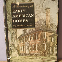 vintage A Treasury of Early American Homes book, 1949, interior design architecture book, colonial american history book,
