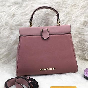 Michael Kors MK Women Leather Crossbody Satchel Handbag