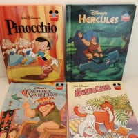 4 Disney's Wonderful World of Reading Books The Aristocats Hercules Pinocchio The Huntchback of Notre Dame Classic Books