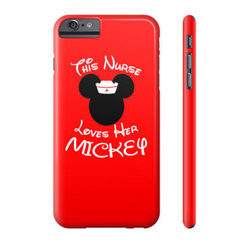 This Nurse Loves her Mickey - Phone Case