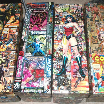 Custom decoupage Comic book storage Long Box, made to order DC, Marvel, Archie, Image, IDW, Dark Horse