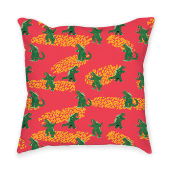 So into this design on Fab! Godzilla Kaiju Pillow #FabForAll