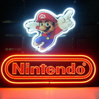 New Nintendo Super Mario Real Glass Neon Light Sign Home Beer Bar Pub Sign L29