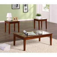 Dorel Living 3 Piece Coffee & End Table Set