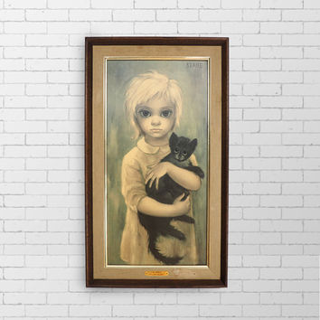 1960's BIG EYES Original Keane Print - The Stray