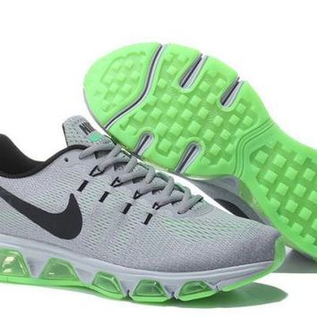 PEAPON3V Nike Air Max Tailwind Grey, Green & Black Running Shoes For Men