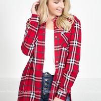 Kentucky Red Plaid Tunic