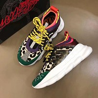 shosouvenir Versace Leisure heavy-soled lace sneakers (Many styles)