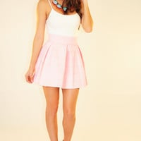 The Travel Time Skirt: Light Pink