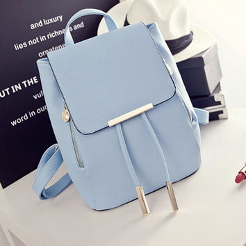 Fashion Women's Backpacks Leather School Bags Ladies Shoulder Bags Satchel Bags