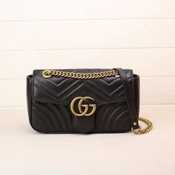 Gucci Marmont Small Black Bags (brand New) Authentic Women Handbag
