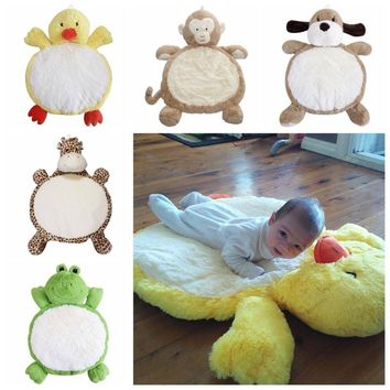80CM Baby Play Soft Cotton Crawling Round Floor Rug