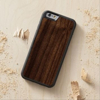 Cool Light Gold Glitter Carved® Walnut iPhone 6 Bumper