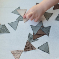 Triangles patch applique iron on for adults and children Baby shirt applique patch iron Set applique triangles