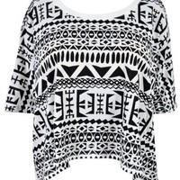 Clothing :: Tops :: 'Zena' Tribal Print Beach Tee - Celeb Boutique - Celebrity Style At High Street Prices| Bodycon Dresses | Bandage Dresses | Party Dresses