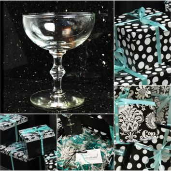 Gifts to Go! Bamboo Stem Coupes, Cocktail Stemware