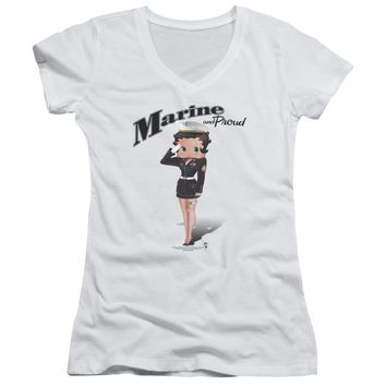 Betty Boop - Marine Boop Junior V Neck