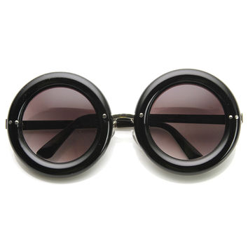 Retro 1950's Women's Fashion Donut Round Retro Sunglasses 8971