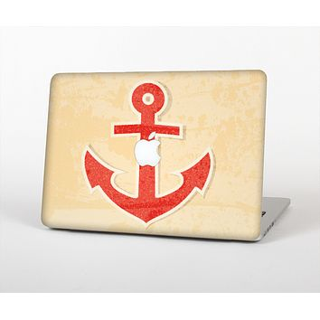 """The Scratched Vintage Red Anchor Skin for the Apple MacBook Air 13"""""""