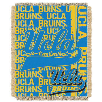 UCLA Bruins NCAA Triple Woven Jacquard Throw (Double Play Series) (48x60)