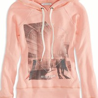 AEO Women's Graphic Hooded Pop Over