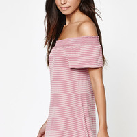 LA Hearts Smocked Off-The-Shoulder Dress at PacSun.com