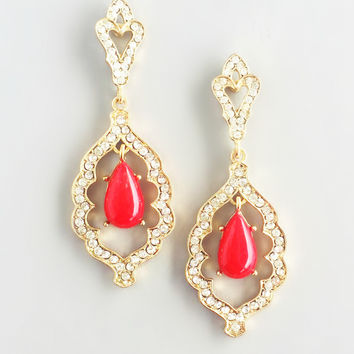 Red Arabian Delights Earrings