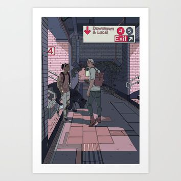 Subway Station Meetup Art Print by cassandrajean