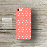 Salmon Polka dot, Samsung Galaxy S4 3D-sublimated Unique design iPhone 4/4S case iPhone 5/5S case.