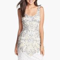 Women's Adrianna Papell Embellished Mesh Tank Dress