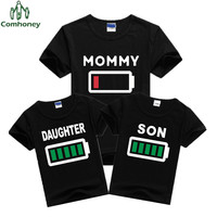 Family Clothing MOMMY DAUGHTER SON Summer T Shirt Mother&Kids Matching Outfits Short Sleeve Mother Daughter Son Clothes Comhoney