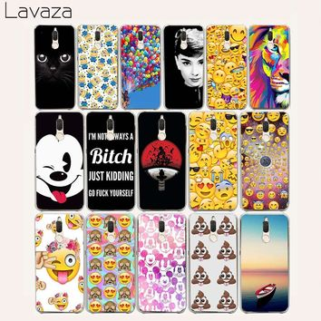 Lavaza 45af Emoji Smiley Black Cat Minions Hard Case for Huawei Mate 10 Pro Y6 Y5 Prime 2018 Y7 Y5II Y6II II Nova 2i lite