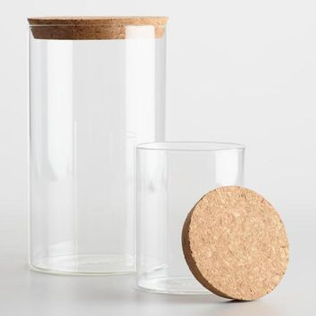 Glass Canister with Cork Top Collection