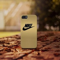 Gold Nike for iphone 4 5 5c 6 6plus, samsung S4 S5 case cover