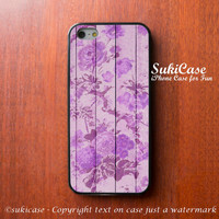 IPHONE 5 CASE Girly Vintage Blossom Purple Flower on Wood Floral iPhone 5s iPhone 4 iPhone Cases Samsung Galaxy S4 Cover iPhone 5c iPhone 4s