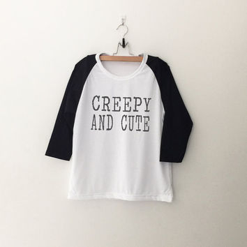Creepy and cute sweatshirt T-Shirt womens girls teens unisex grunge tumblr instagram blogger punk dope swag hype hipster gifts merch