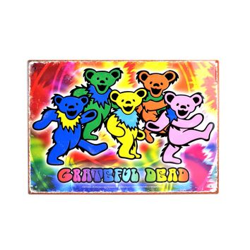 Grateful Dead Dancing Bears Tin Sign on Sale for $9.99 at The Hippie Shop