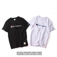 Champion Letter Print Hip Hop T Shirt