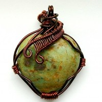 Ruby in Fuchsite Heart Necklace