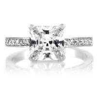 Trista's Promise Ring - Clear Princess Cut CZ,  Size 7