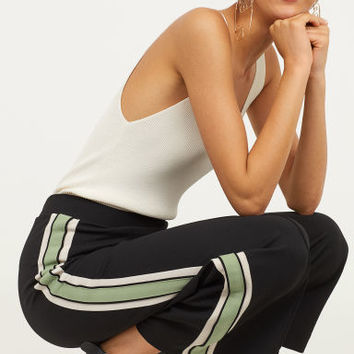 Pull-on Pants - Black/green - | H&M US