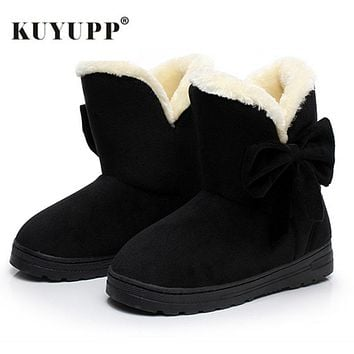 Women winter snow boots warm short plush ankle boots for women lace-up winter shoes student footwear botas feminina SDX905