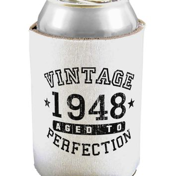 70th Birthday Vintage Birth Year 1948 Can / Bottle Insulator Coolers by TooLoud