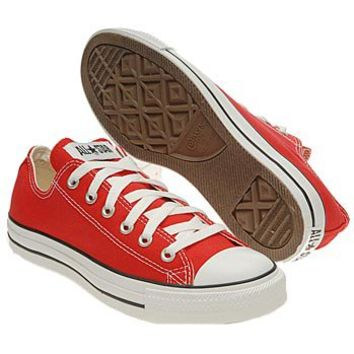 Athletics Converse Men's Chuck Taylor All Star Lo Red FamousFootwear.com