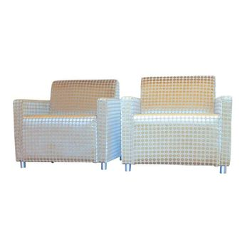 Pre-owned Milo Baughman Style Modern Cube Chairs