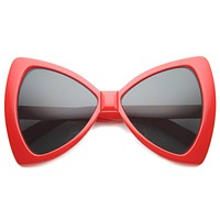 Oversize Bow Tie Cat Eye Retro Sunglasses 9884