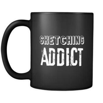 Sketching Sketching Addict 11oz Black Mug