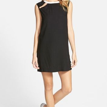 Junior Women's RVCA 'Had To' Sleeveless Open Back Shift Dress,
