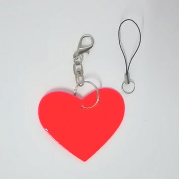 Heart shape  Reflective pendant Reflective keychain reflective keyrings for visible safety 2pcs more 20% off