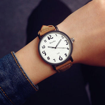 Casual Leather Strap Watch + Gift Box-464